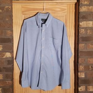 Ralph Lauren blue and white shirt 17 1/2  36/37